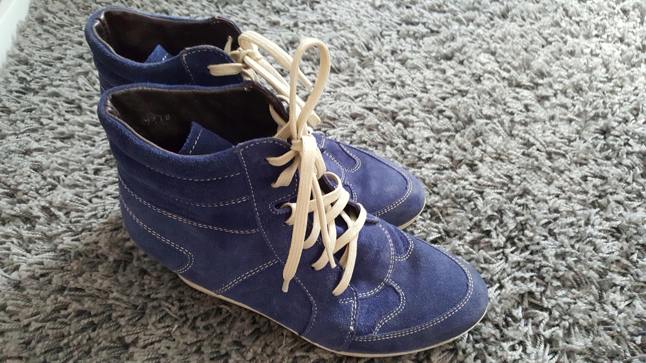 a0b81fe9c8c27 Buty sneakersy koturn Wojas skóra 37 - 7537760910 - oficjalne ...