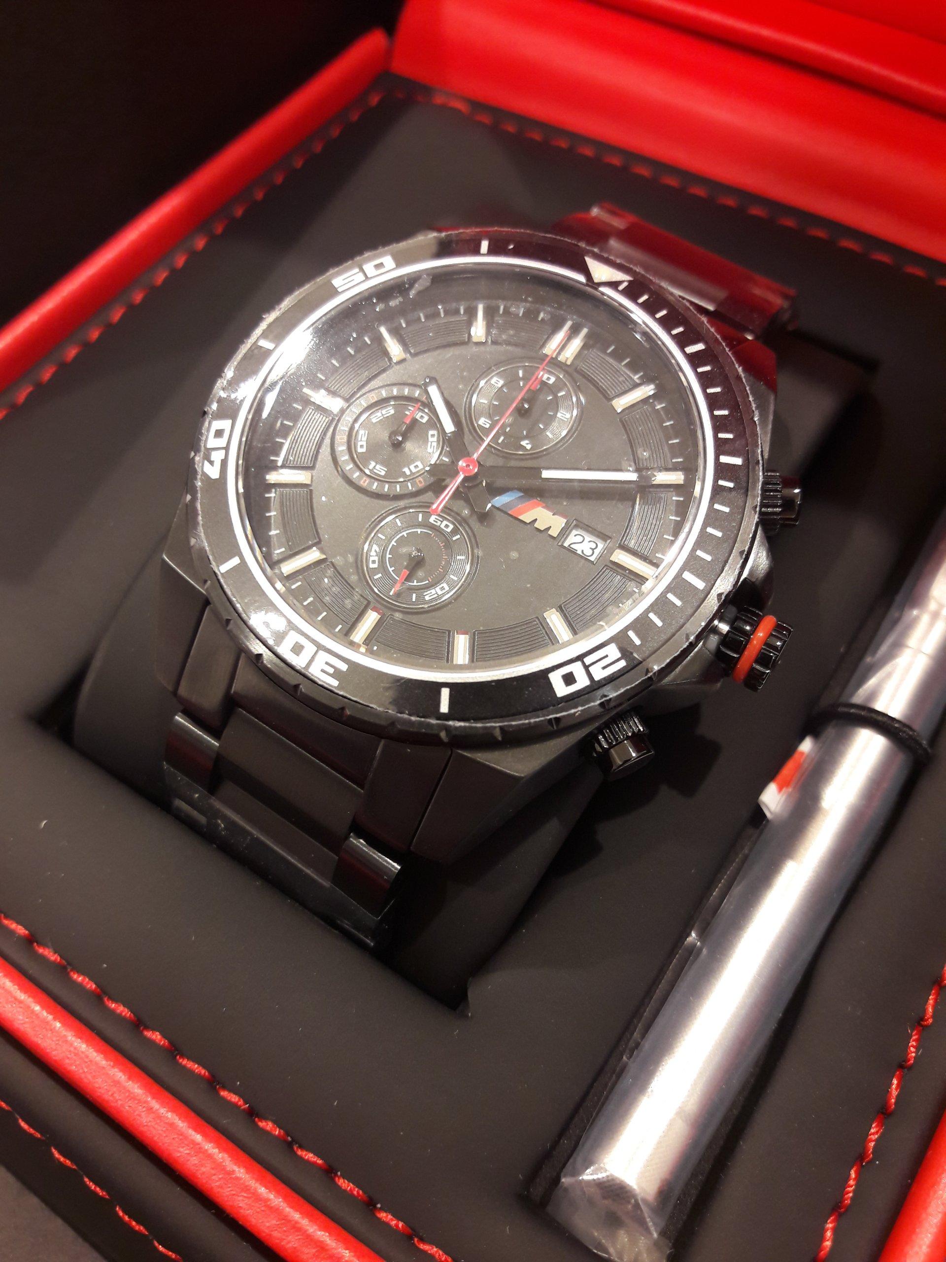 zegarek m ski bmw m chronograph black 80262406694. Black Bedroom Furniture Sets. Home Design Ideas