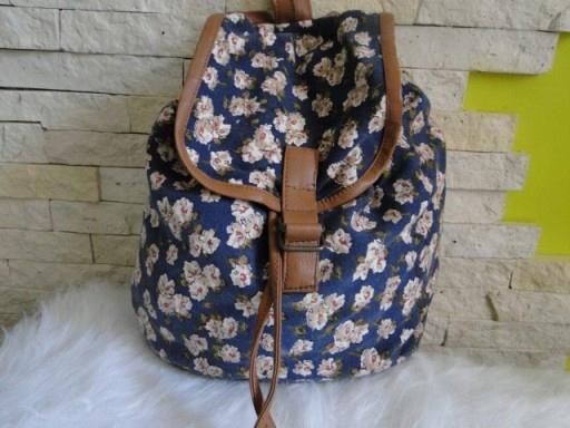 c2c2ea6b1efb3 DUNNES plecak w kwiaty floral ściągany worek MEGA - 7672058347 ...