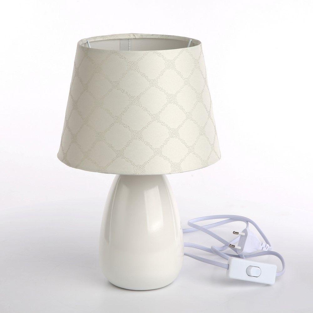 Lampka Nocna Lampa Stołowa Ceramiczna Ecru 40w 7007881946
