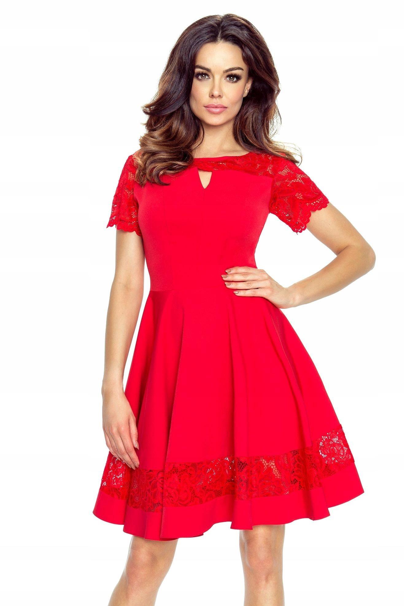d209b1c04d rozkloszowana sukienka czerwona Katowice w Oficjalnym Archiwum Allegro -  archiwum ofert