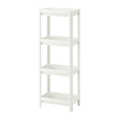 Ikea Vesken Regał łazienkowy Z Pułkami Fvat Biały