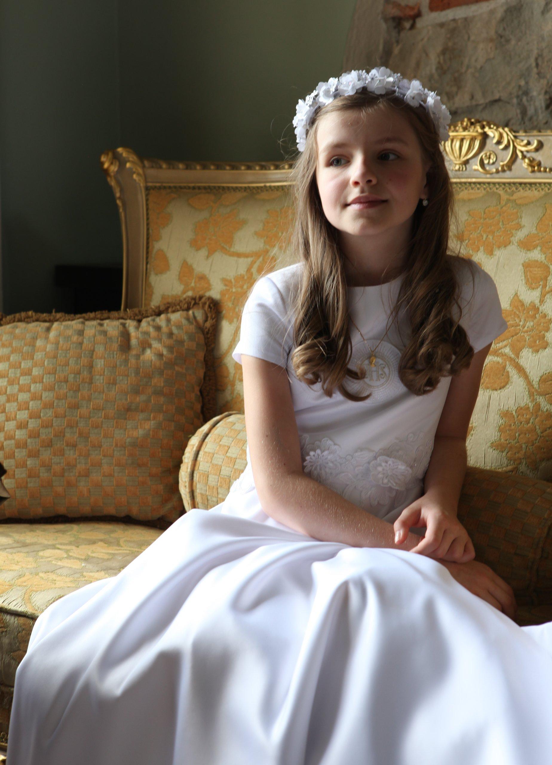 831b20ab10 sukienka komunijna RÓŻA na miarę EP STYL - 7214931129 - oficjalne ...