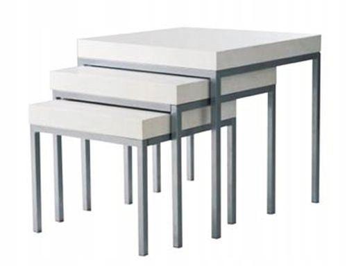 Ikea Klubbo 3 Stoliki Kawowe Loft Białe Styl Skand