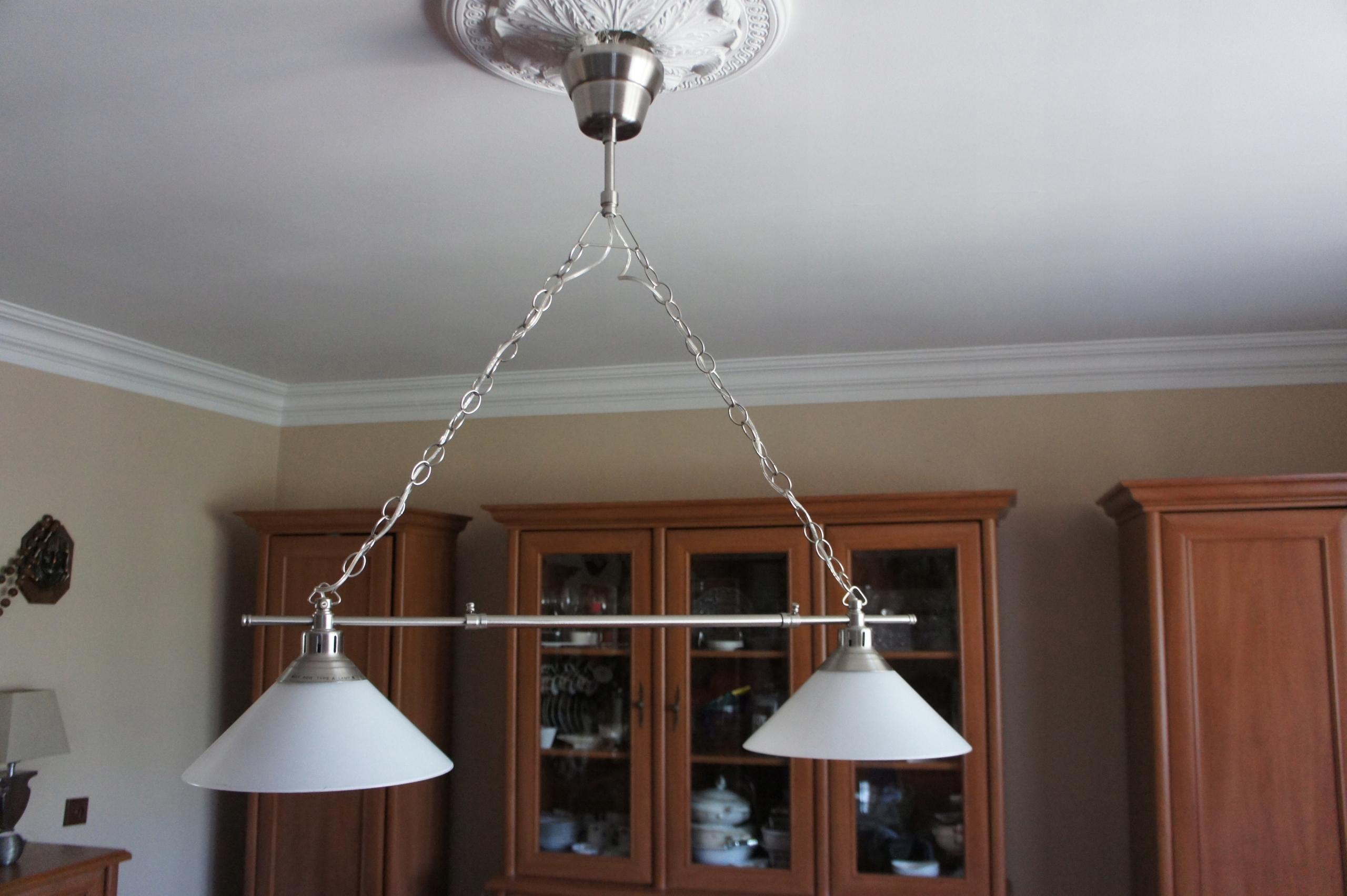 Ikea Kroby Lampa Wisząca Nad Stół Regulowana Srebr 7518606175
