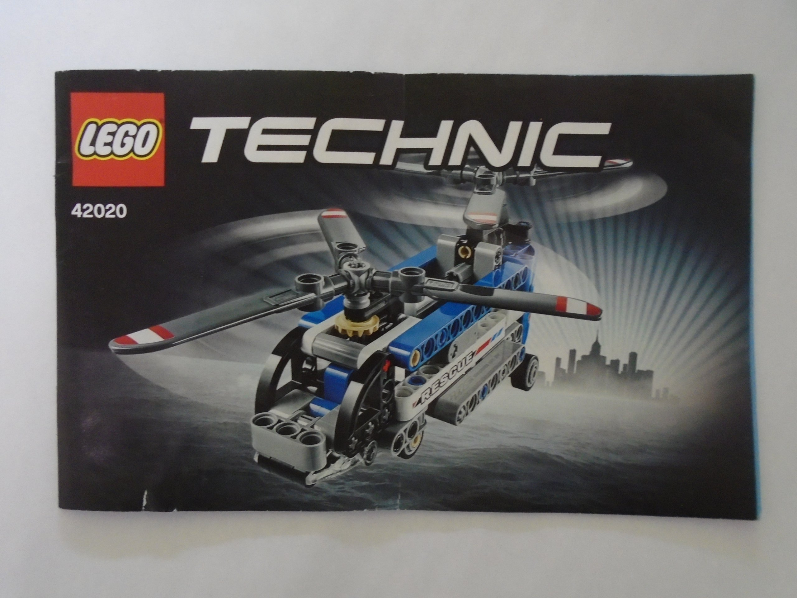 Lego Instrukcja Technic Twinrotor Helicopter 42020 7281379596