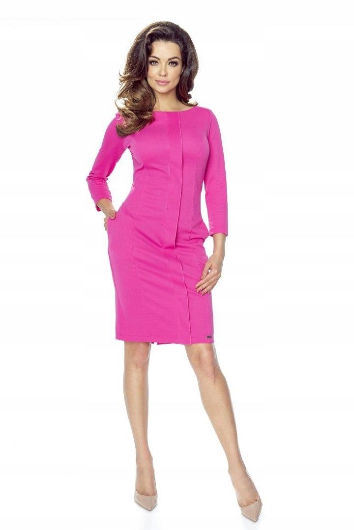 84092a92b0 Taliowana sukienka z ozdobną listwą - 7670256349 - oficjalne ...