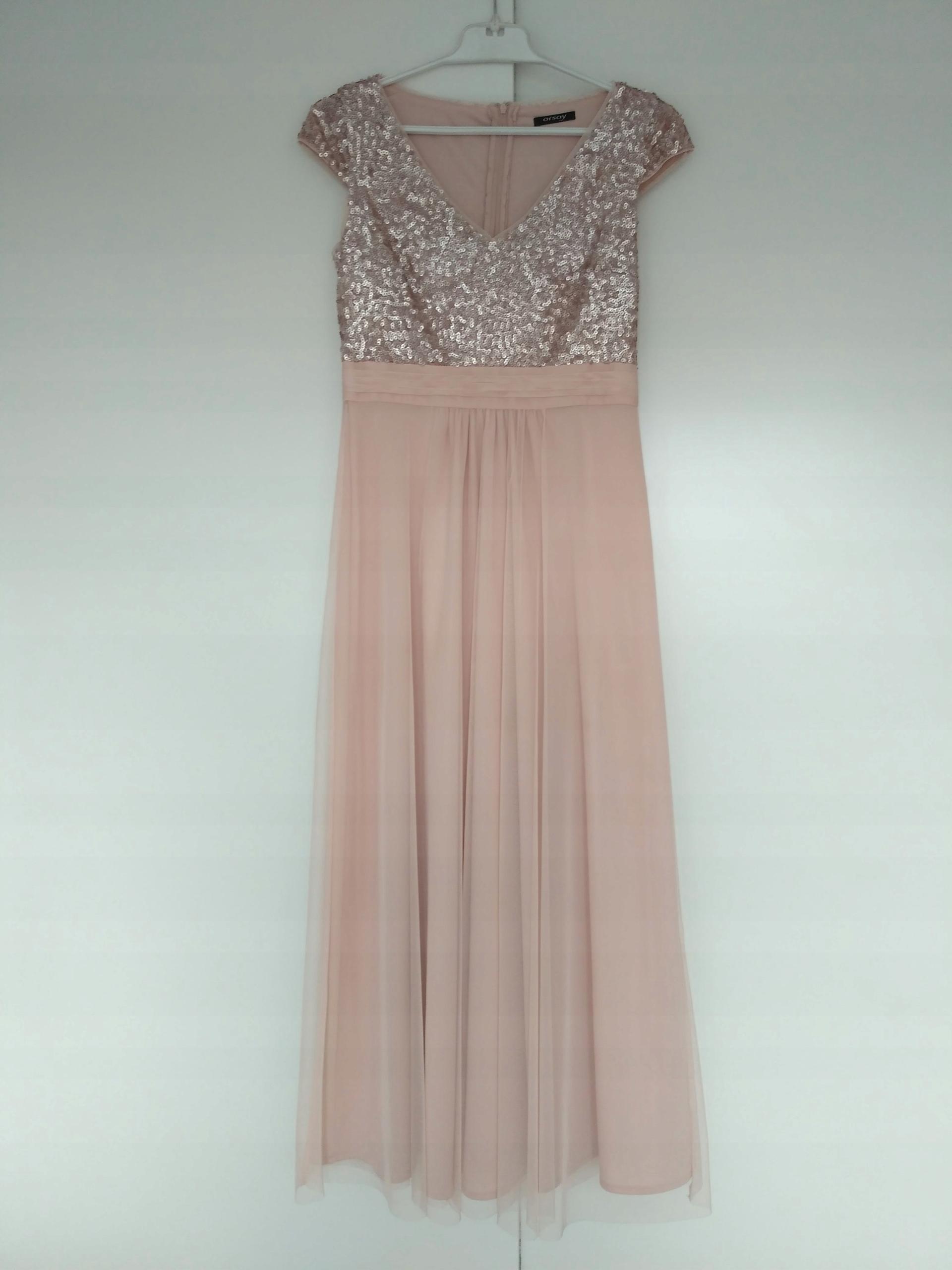 473a7c94aa Orsay Sukienka wieczorowa maxi z cekinową górą - 7534056349 ...