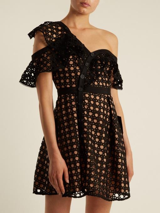 a11ed75932 Sukienka koronka ażurowa czarna beż 38 M falbana - 6922493338 ...