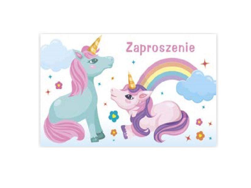 Zaproszenie Unicorn Z Jednorożcem Urodziny 10szt 7234632512