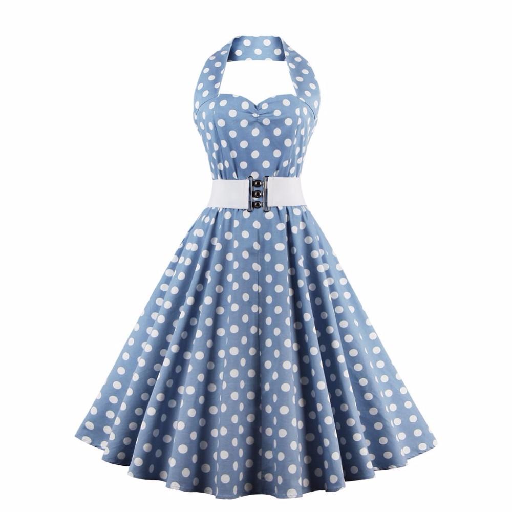 43f00a61 Sukienka PIN UP retro rockabilly VINTAGE W GROCHY - 7397028984 ...
