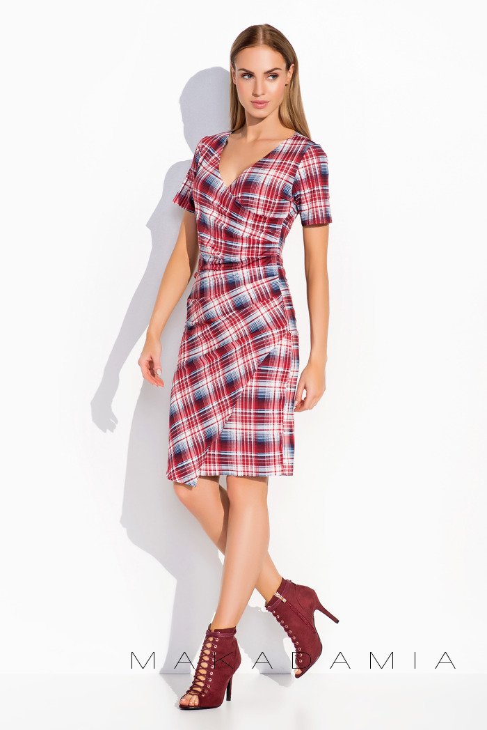 cc84879f65 Sukienka w kratkę Makadamia r. 36 SUPER CENA - 7285478886 ...