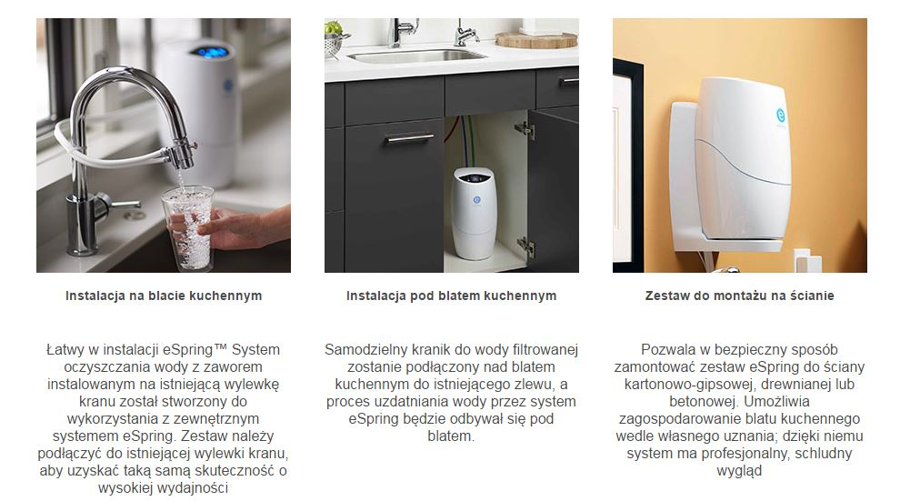 Wspaniały Filtr System oczyszczania wody eSpring z kranikiem - 7209482825 TP29