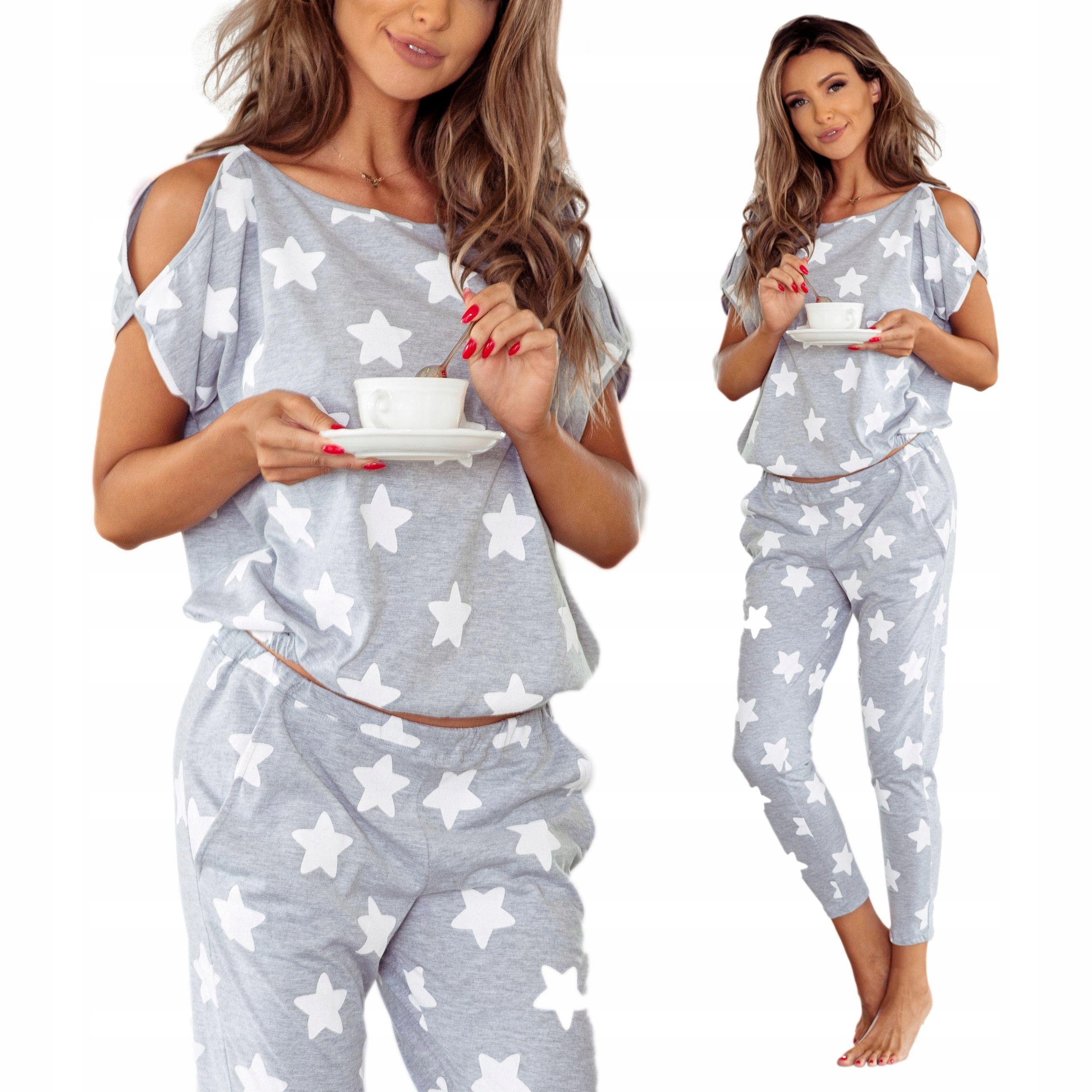 f920dab822 Piżama damska Pigeon z bawełny z długimi spodniami - 7521493893 ...