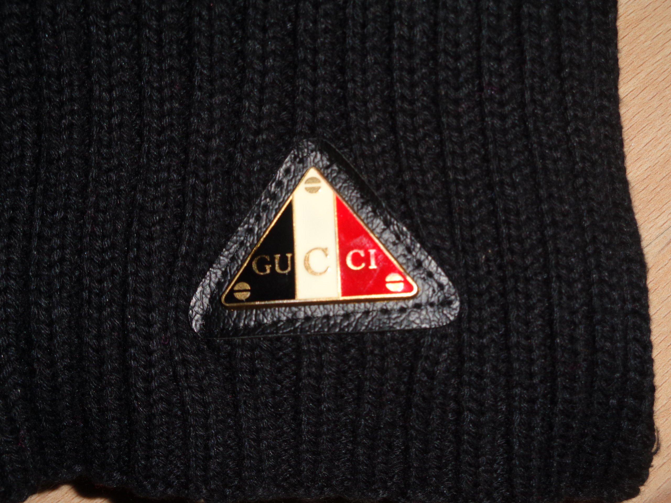e3ea38003b42c GUCCI - oryginalny czarny męski szal szalik OKAZJA - 7180836784 - oficjalne  archiwum allegro