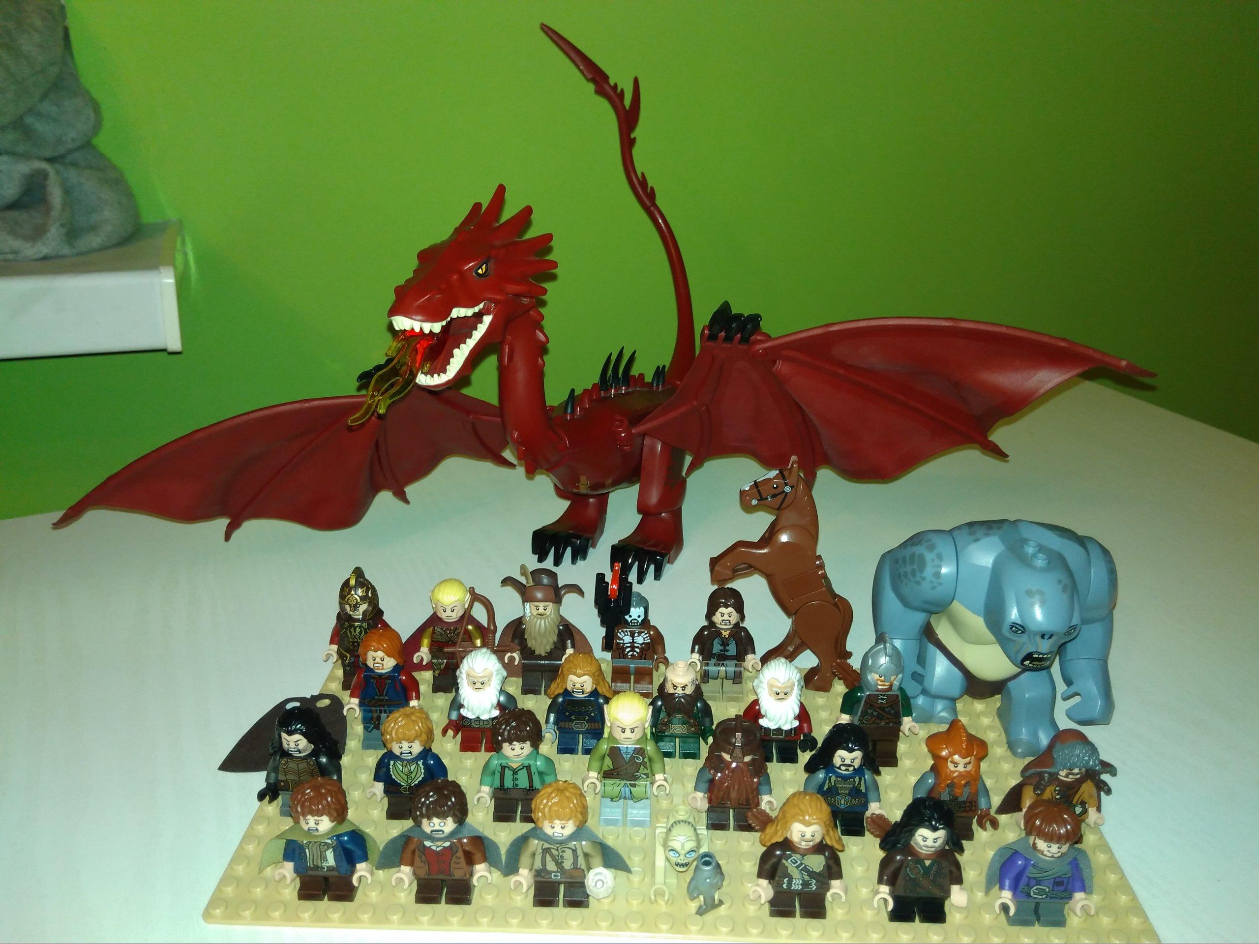 Lego Władca Pierścieni Hobbit Figurki Smaug Lotr 7087453548