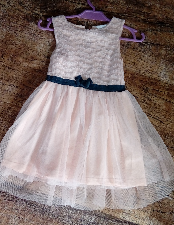 a205feb9ed PEPCO sukienka koronka tiul kokarda pudrowy róż 92 - 7205418131 ...