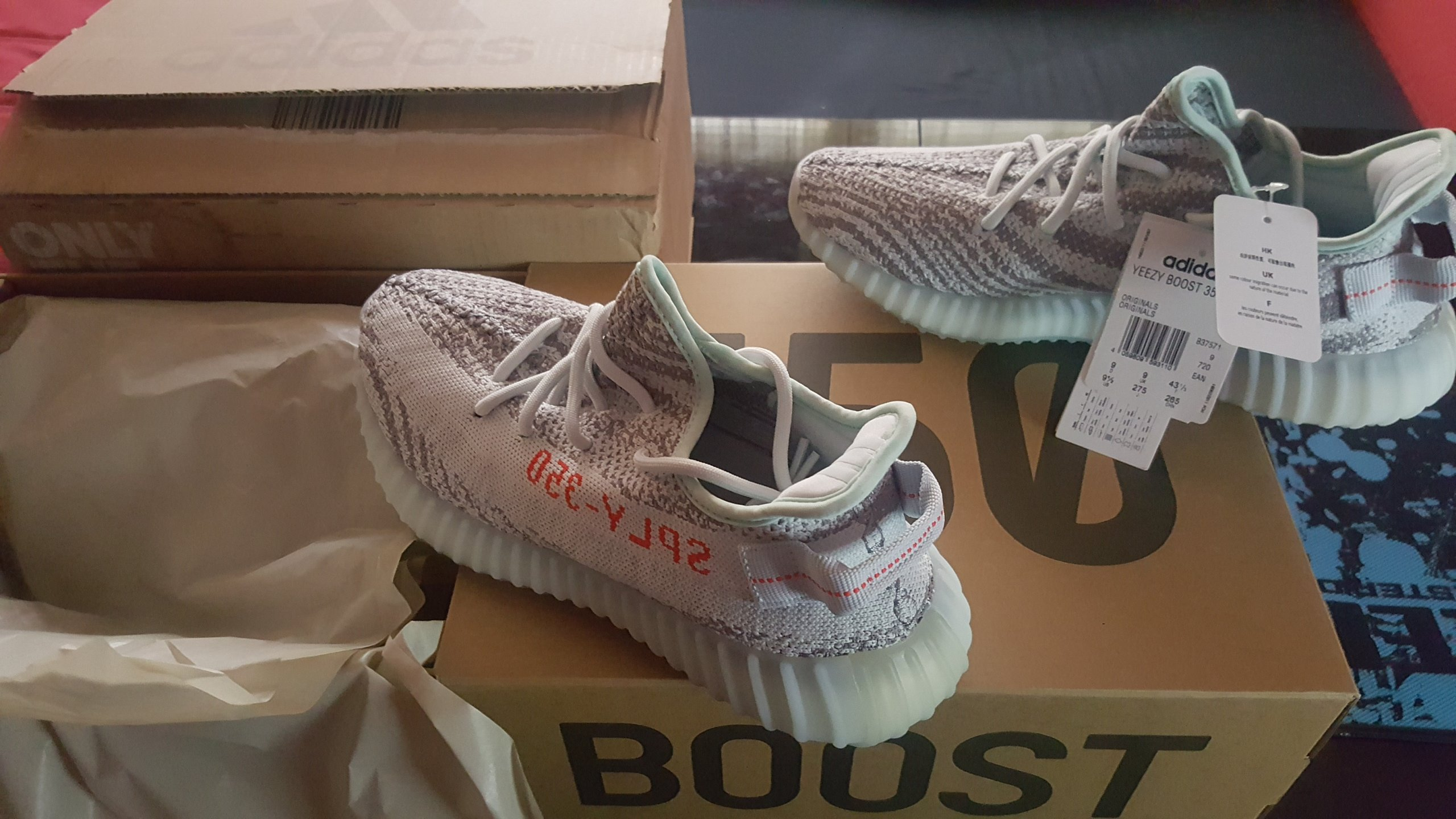 best sneakers 1bc58 9ec43 YEEZY BOOST 350 V2 blue tint rozmiar  43 i 1 3