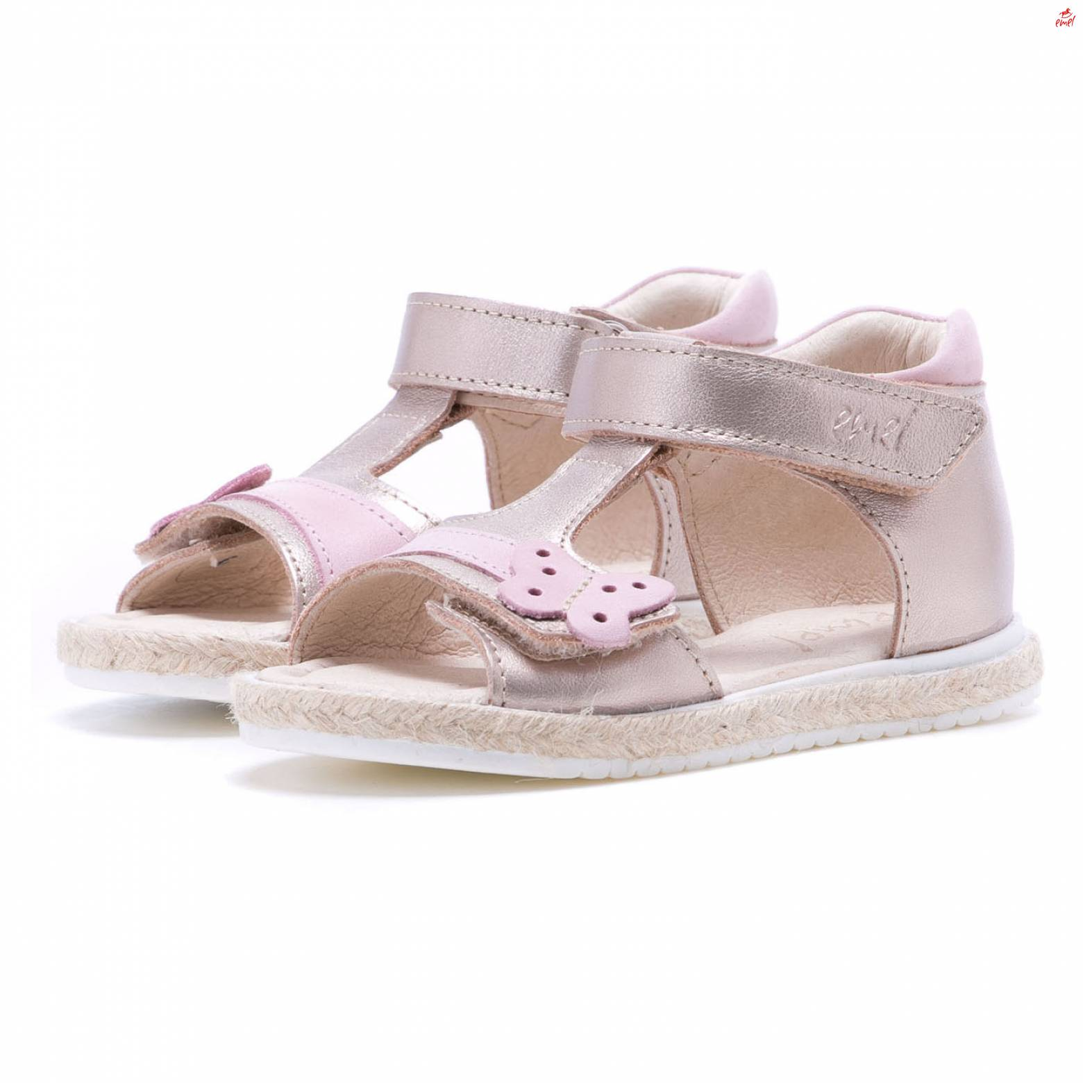 be197a450d8f3 EMEL sandały dla dziewczynki e2637-8 złoto, r. 24 - 7353571847 ...
