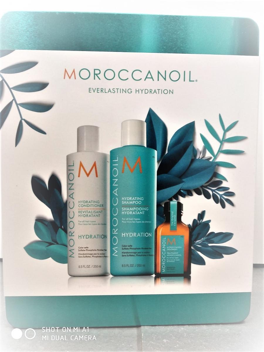 MOROCCANOIL HYDRATION zestaw szampon + odzywka + k