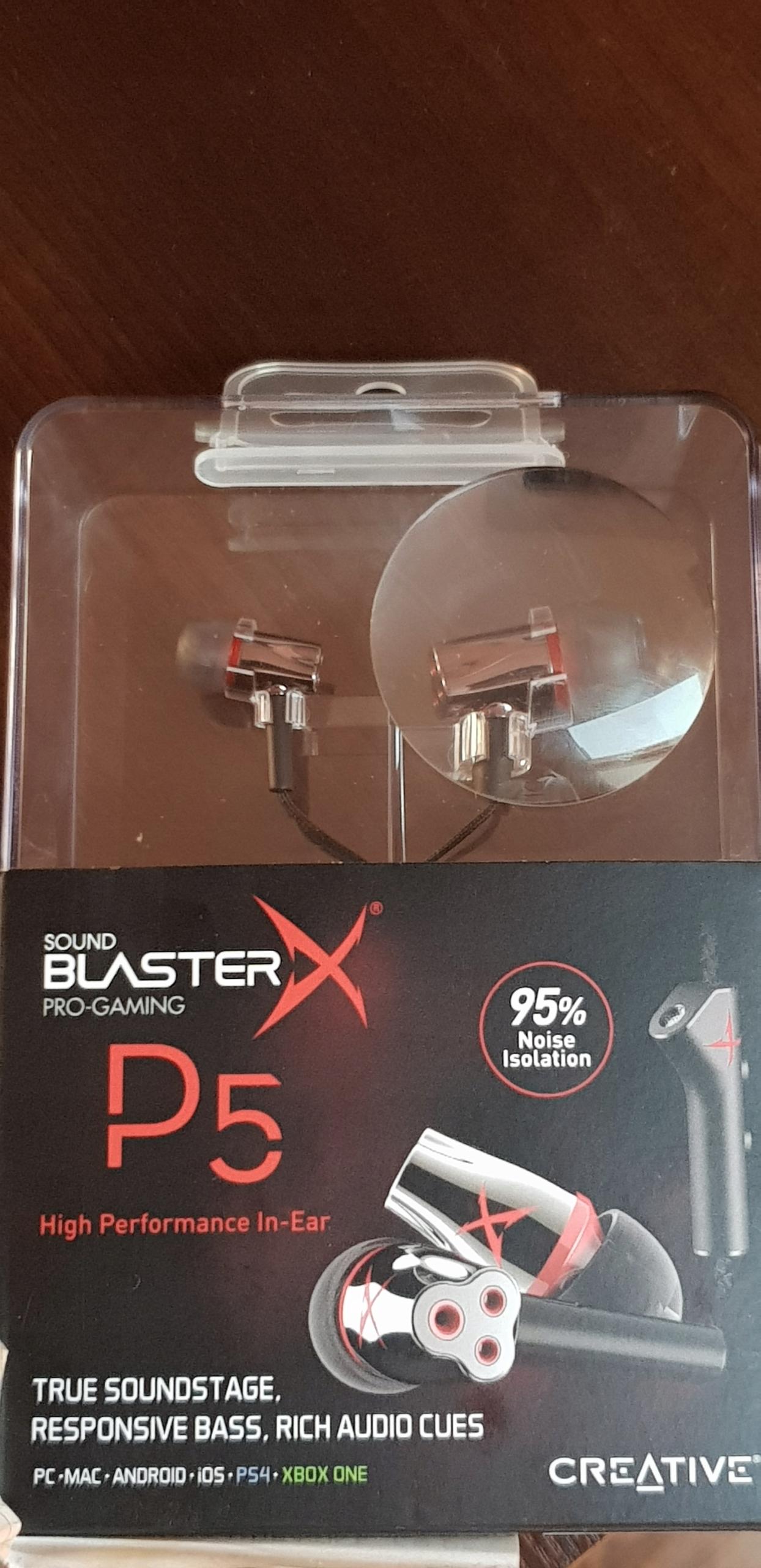 12b1f95ee17 Słuchawki CREATIVE SOUND BLASTERX P5 PC PS4 - 7614694607 - oficjalne ...