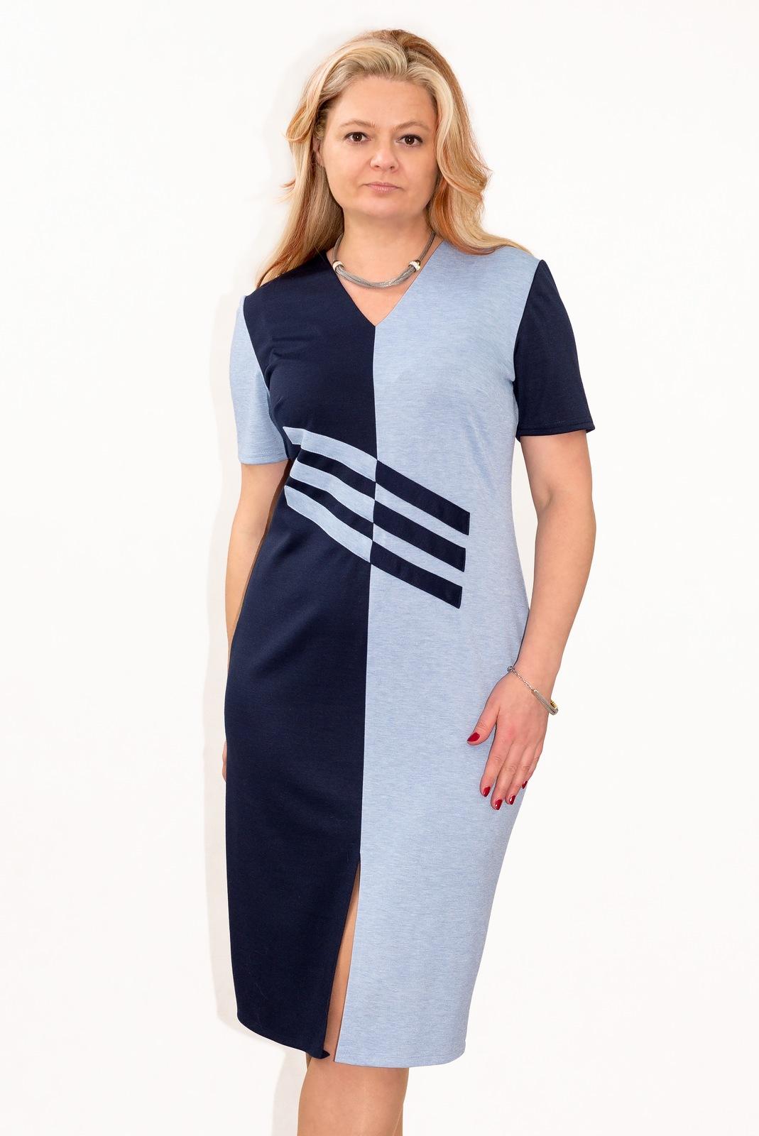 a0a3475eca Elegancka sukienka PLUS SIZE r.50 DO BIURA - 7328889317 - oficjalne ...