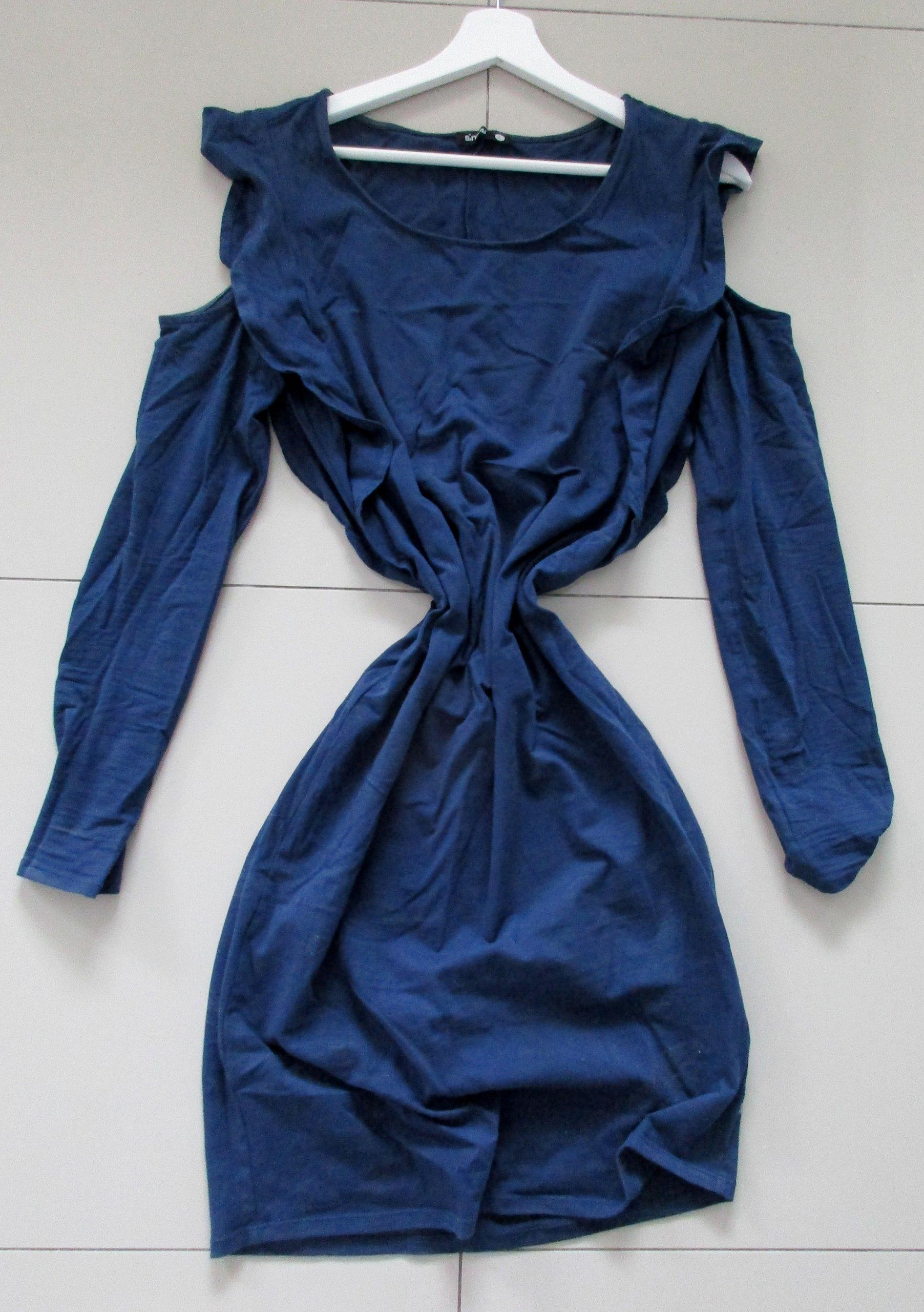 a78c9d99de SINSAY Granatowa Sukienka Odkryte Ramiona 42 XL - 7253451562 ...