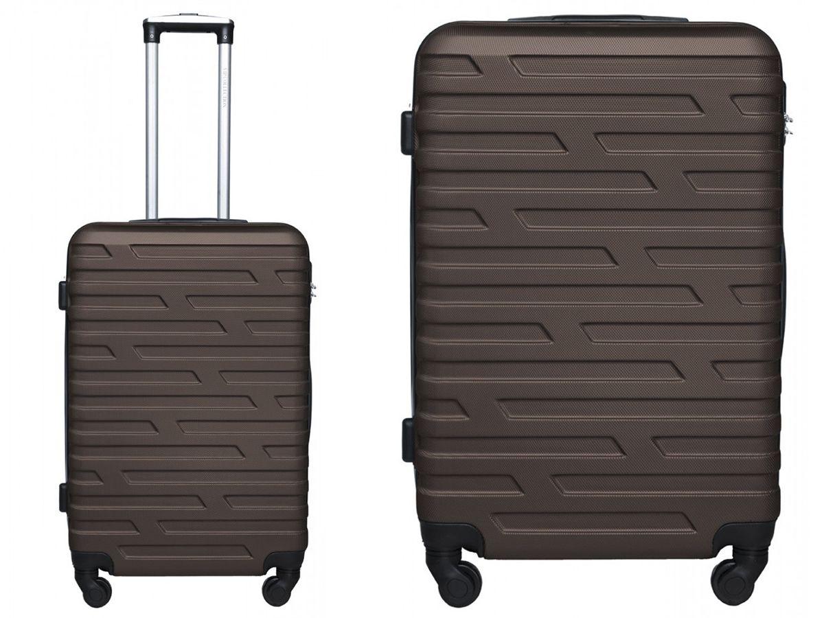 fcde1f404782e VIP Collection BRĄZOWA walizka 24 na 4 kółkach 360 - 7458637127 ...