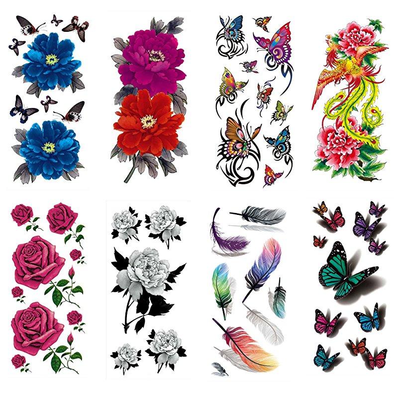 Zestaw Tatuaży Tymczasowych Cokohappy 8 Arkuszy