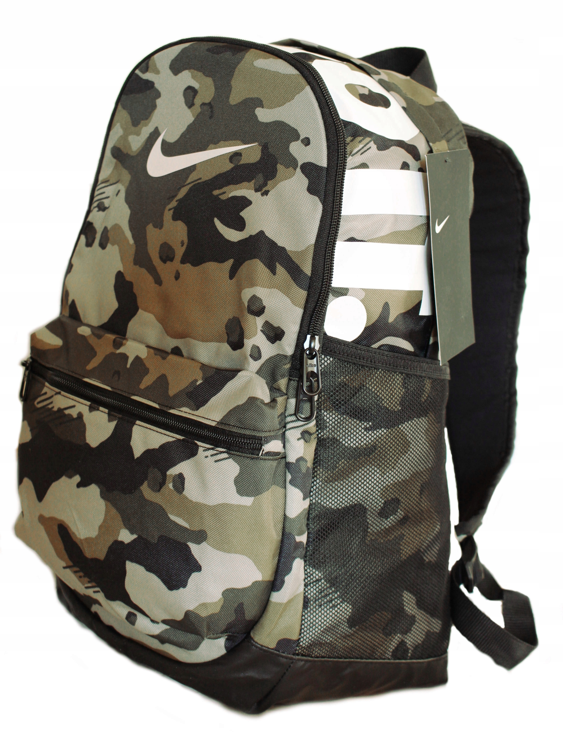 c599df4ffdd9b Plecak NIKE szkolny 3-KOMOROWY wojskowy MORO 24L - 7751692522 ...
