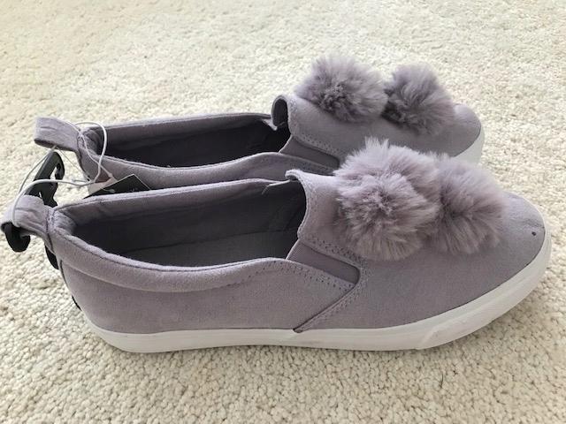 PRIMARK sneakersy liliowe z pomponami 40 buty