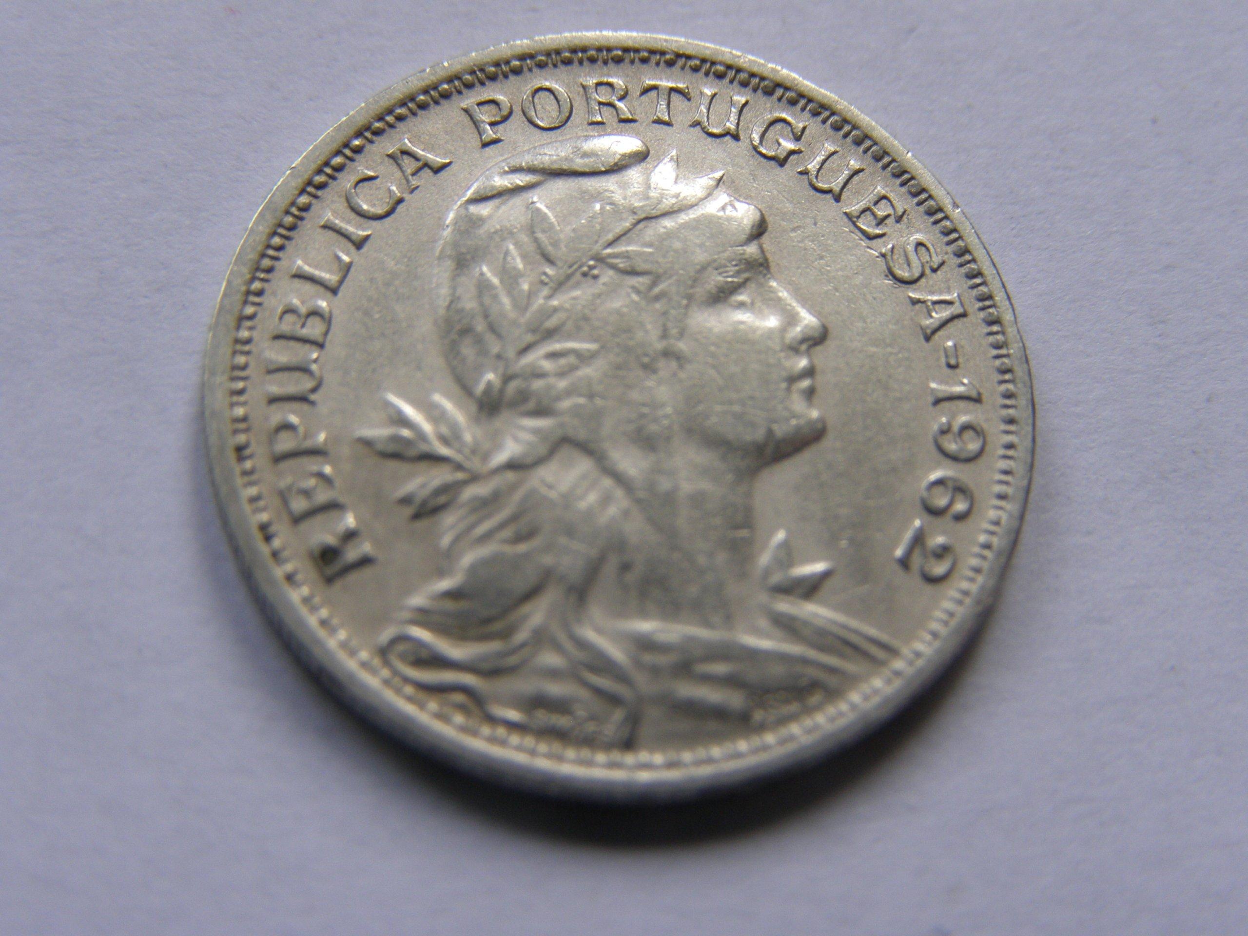 PORTUGALIA PORTUGAL 50 CENTAVOS 1962 ROK !!!!!!!!!