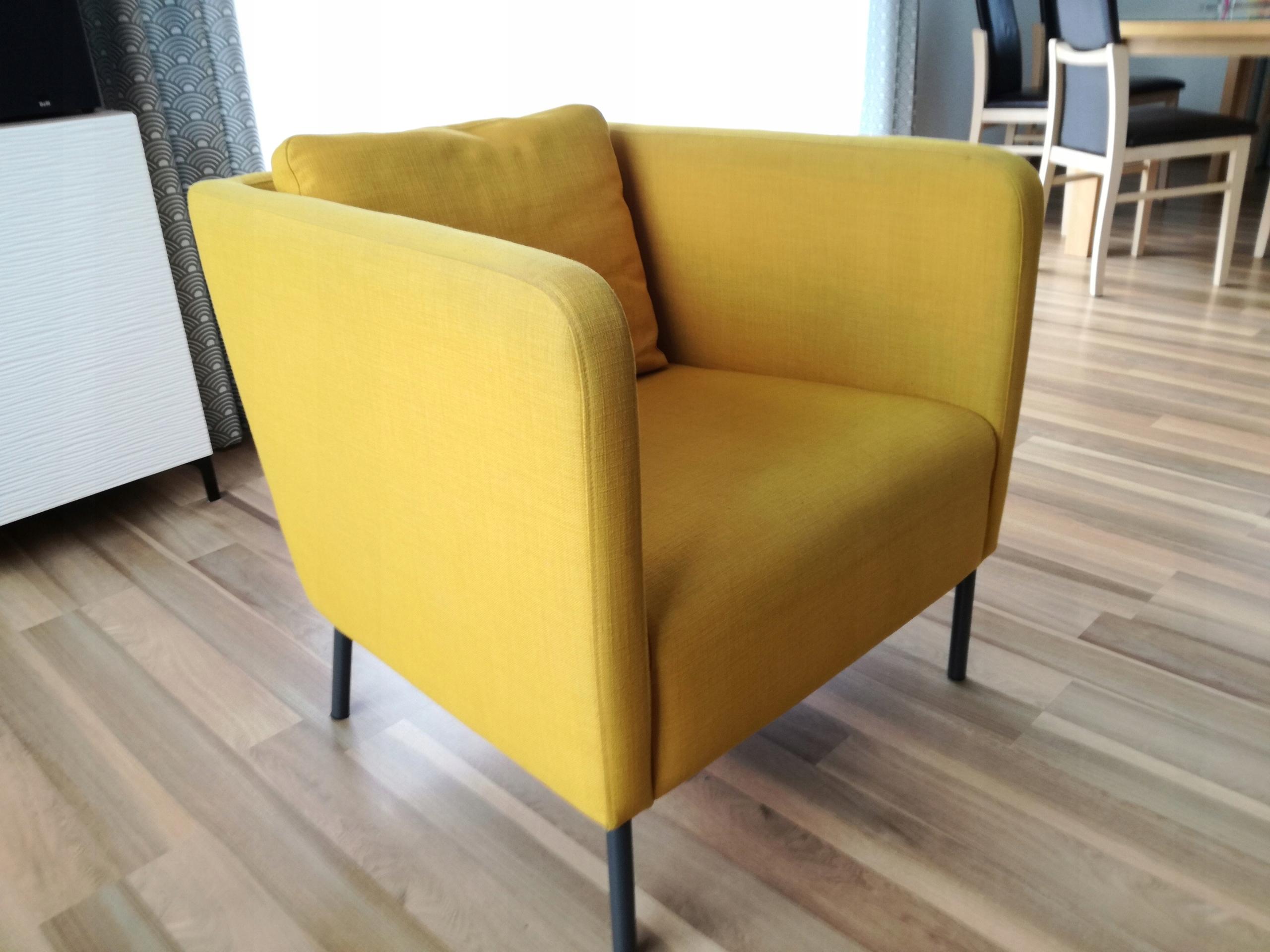 Fotel Ikea Ekero Kolor żółty 7512123102 Oficjalne