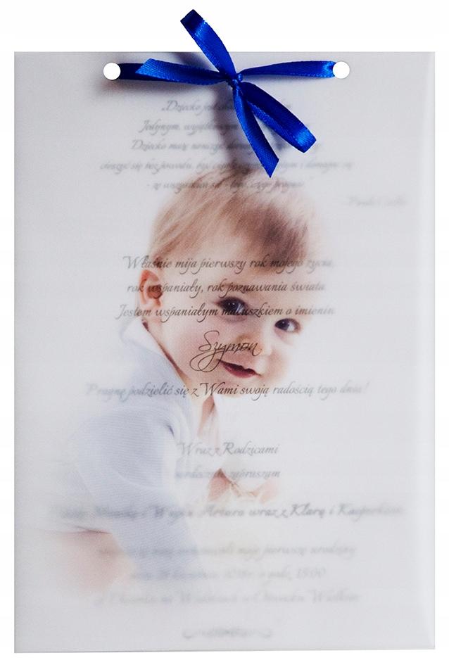 Zaproszenia Na Urodziny Roczek Ze Zdjęciem 48h 7302963084
