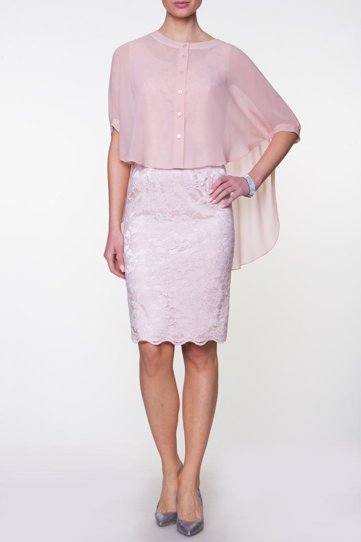 62735fd39e Caterina 38 sukienka + narzutka blady róż wesele - 7292757181 ...