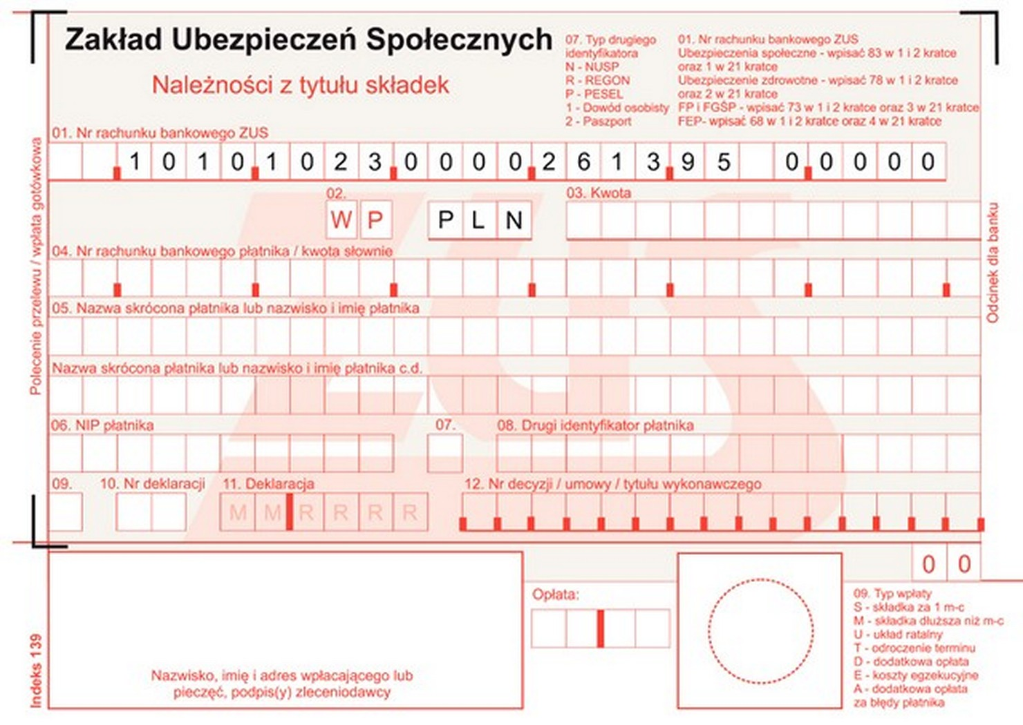Druk Polecenie Przelewu Zus A6 80 Kartek 7226356120 Oficjalne