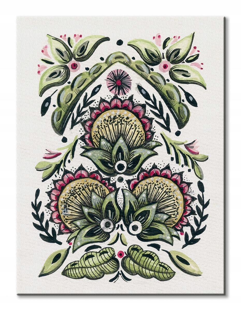 d702f128 Folk Floral I - obraz na płótnie - 7049796656 - oficjalne archiwum ...
