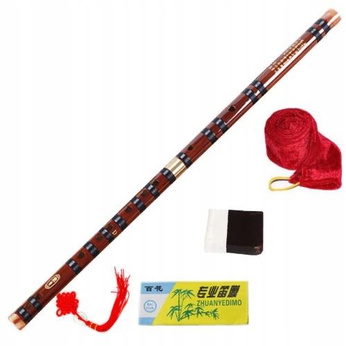 Chiński FLET Bambusowy DIZI (G-dur) + akcesoria