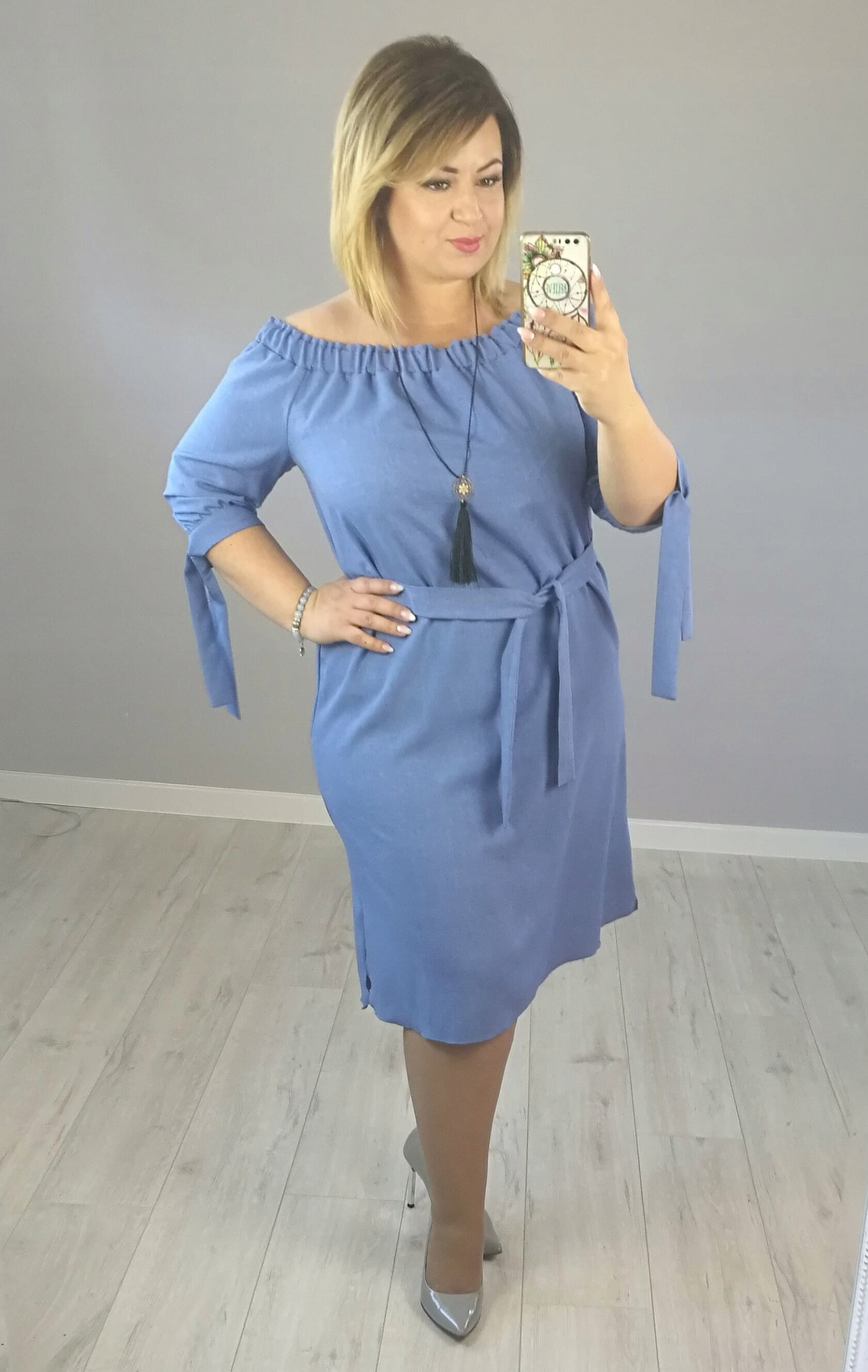 50de3c700c Sukienka Hiszpanka blue jeans 48 50 - 7385745027 - oficjalne ...