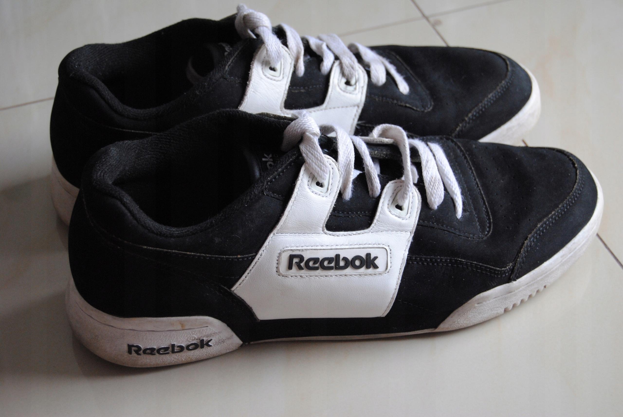 fda3f1b7 buty REEBOK Classic czarno-białe 43 sportowe - 7529278551 - oficjalne  archiwum allegro