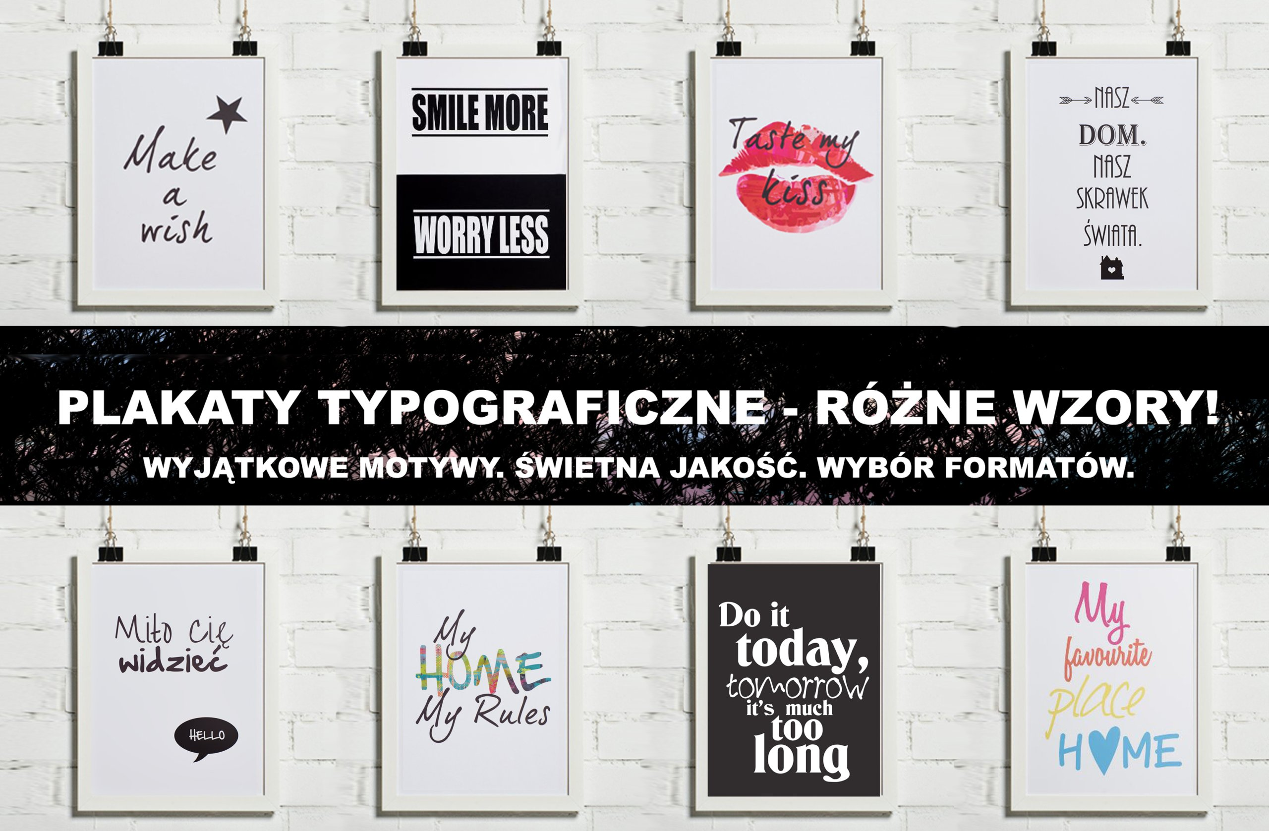 Plakaty Plakat Typograficzny 30x40 Różne Wzory
