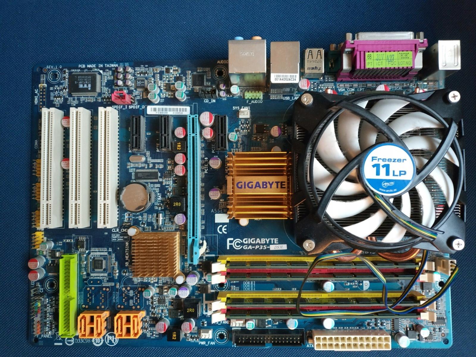 Xeon E5450 3GHz, płyta Gigabyte P35-DS3L, 8 GB RAM