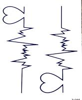 Tatuaż Tymczasowy Serce Puls Heart Nadgarstek 7319632907