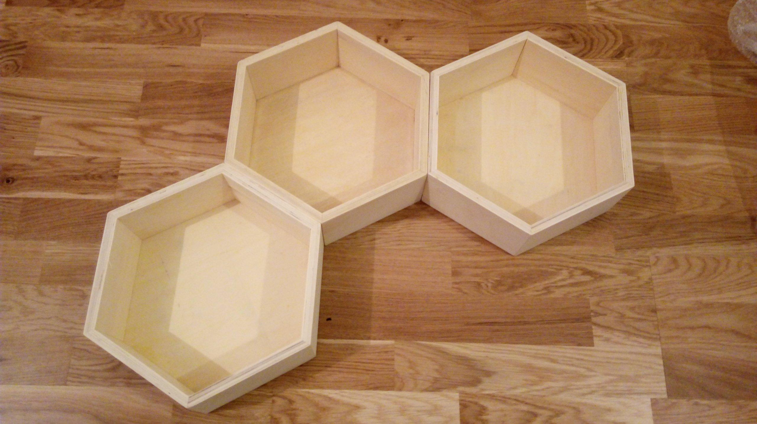 Półki Drewniane Plastry Miodu