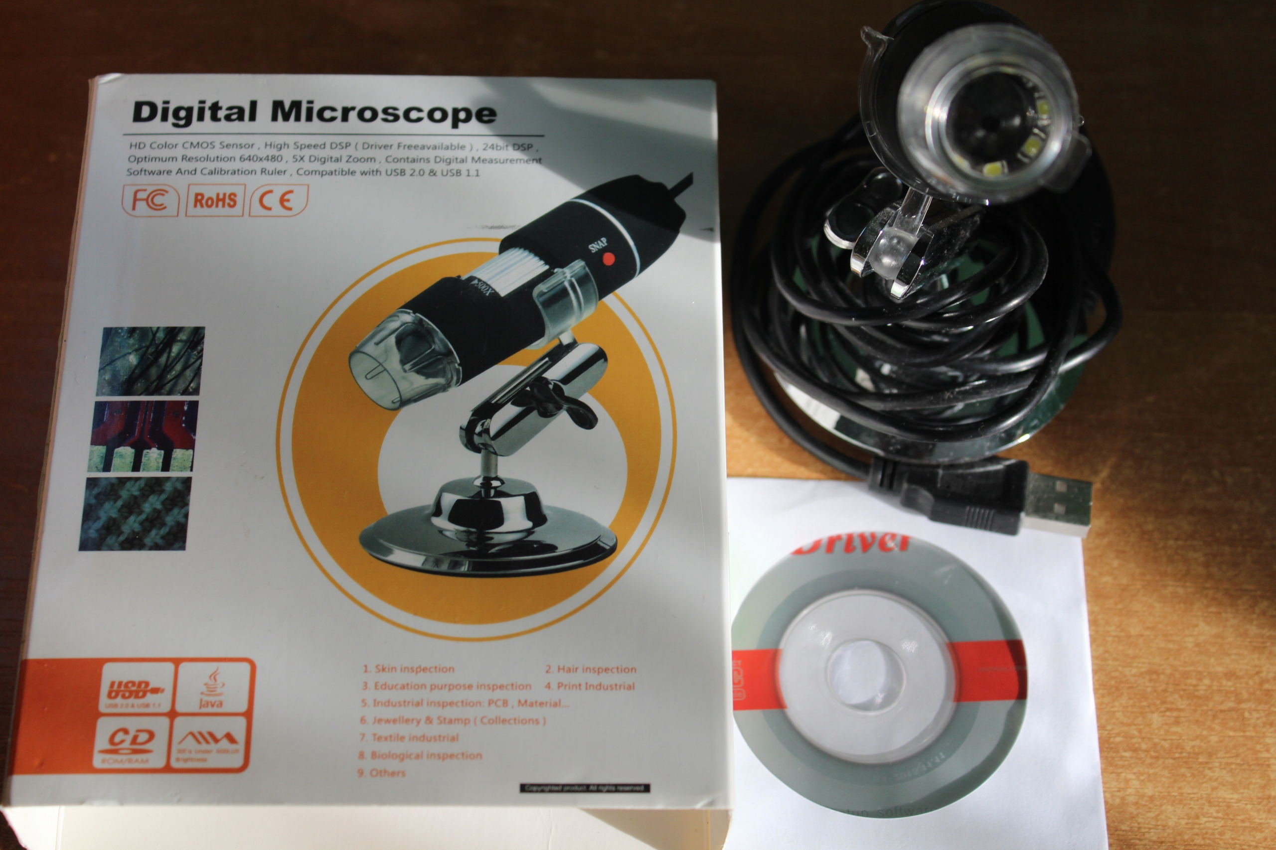 Mikroskop cyfrowy usb 500x powiĘkszenie 7695354620 oficjalne