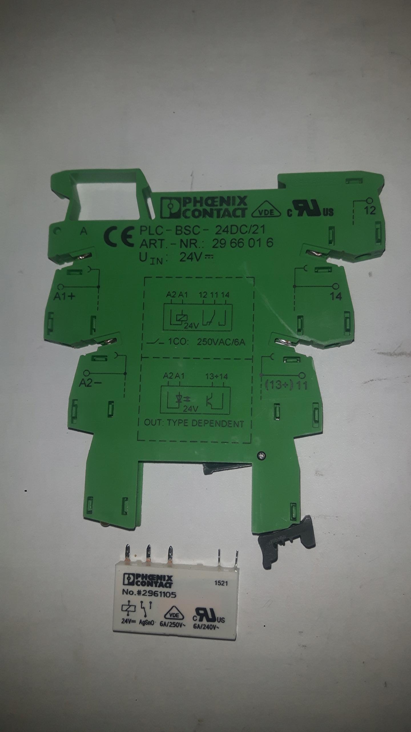 PRZEKAŹNIK + PODSTAWKA PHOENIX CONTACT 24V DC PLC