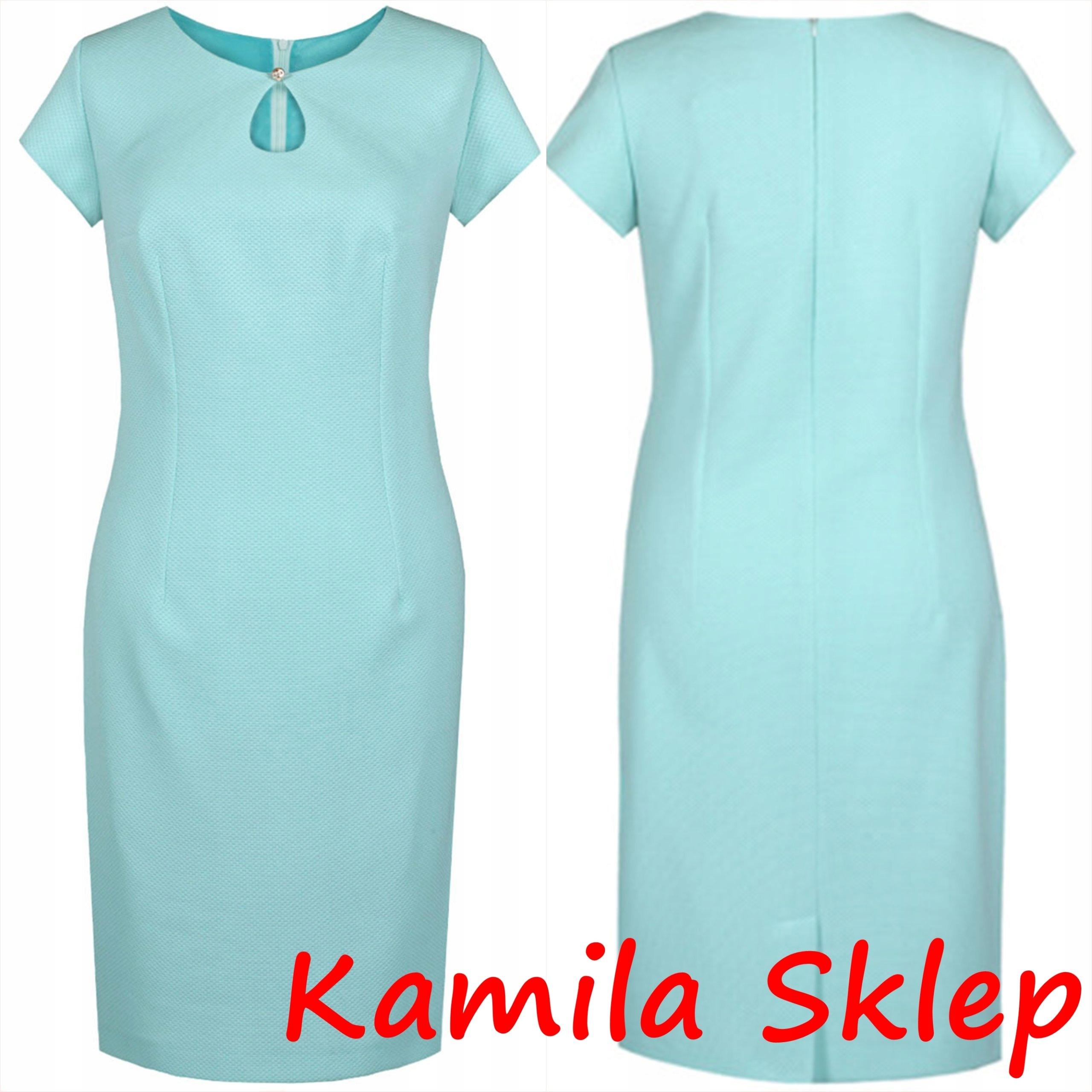 8c4cf99aa801bd Sukienka wizytowa FSU 874 wesele r 50 Kamila Sklep - 6833454825 ...