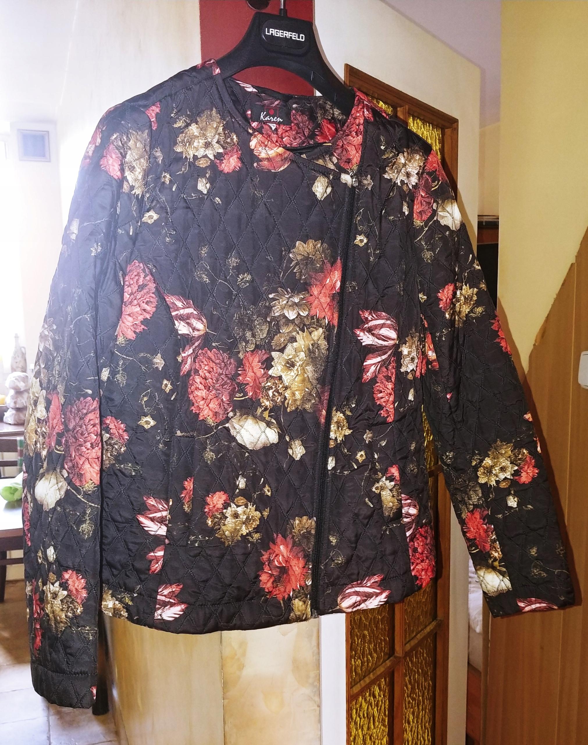 e80ab0edd650 Ramoneska kurtka kwiaty 44 46 pikowana ModBis - 7593114961 ...