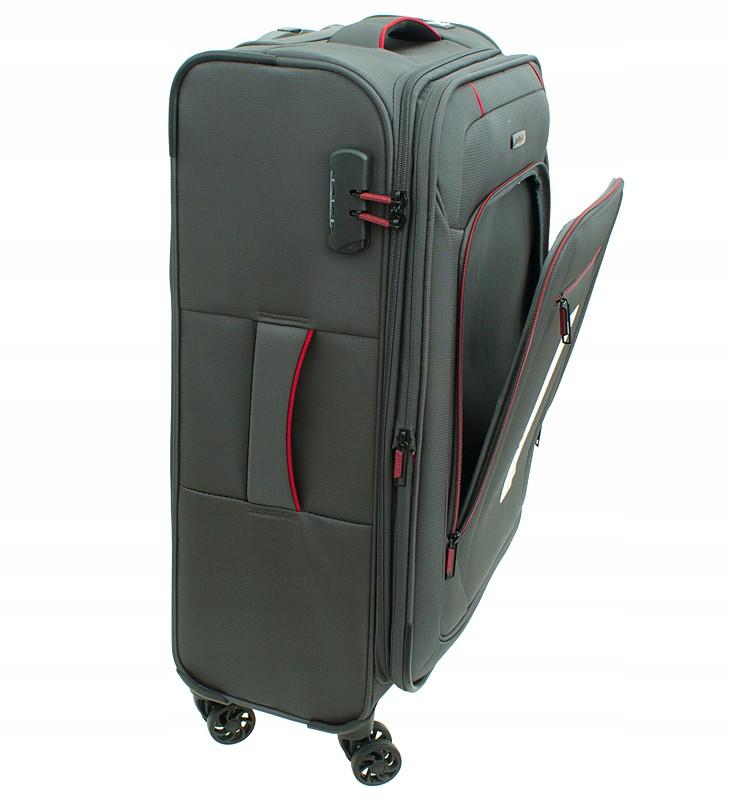 9ed7773b4a042 W61 Duża miękka walizka MVBAGS Zamek szyfrowy koła - 7298929522 ...