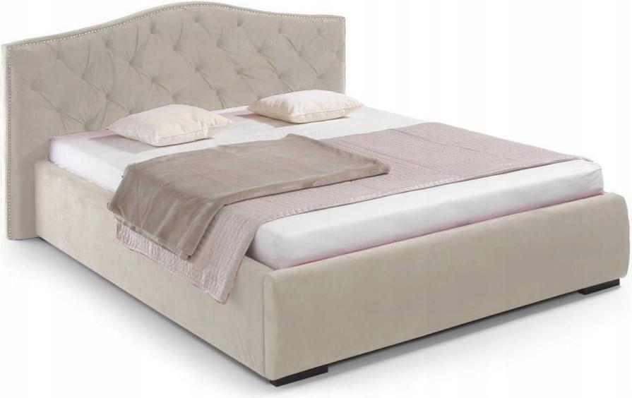 łóżko 180x200cm Beżowe Tapicerowane Alexandra Brw